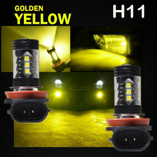 H11 H8 80W LED Fog Lights Yellow For 2006-2014 Acura RLX