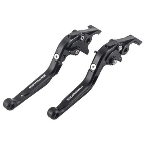 LOGO Folding Extendable Brake Clutch Levers For SUZUKI AN650 Burgman Z 2003-2019