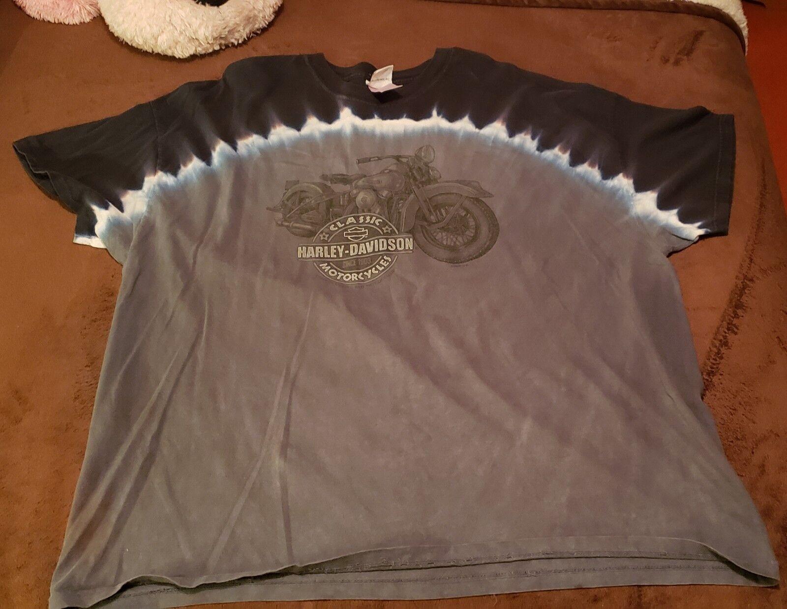 Herren 3x Harley Davidson tie dye t-shirt