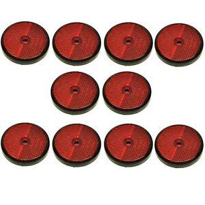 PréVenant Rouge Rond Réflecteur Arrière Pack De 10 Pour Remorques Porte Clôture Postes Tr072-afficher Le Titre D'origine DernièRe Technologie