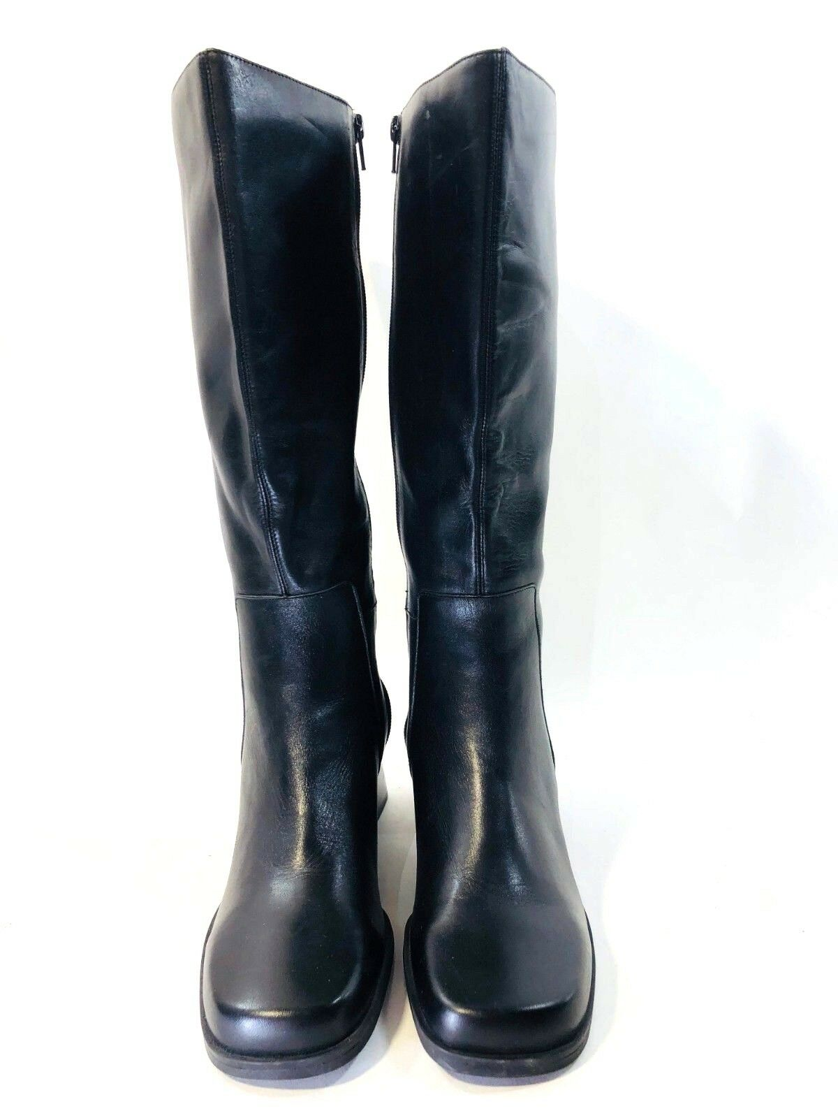 Naturalizer Comfort Women's Tall Black Wonderful Plus Leather Boots Size 8 NWOB