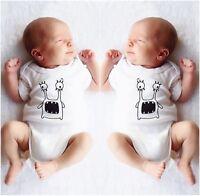 Newborn Baby Boy Girl One-piece Cotton Bodysuit Romper Jumpsuit Clothes 0-24M