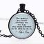 Peter Pan Citation verre noir cabochon Chaîne Collier Sautoir Pendentif Wholesale
