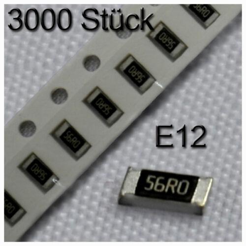 3000 smd résistances 0805 0,125w 1/% Assortiment set resistor 1//8w e12