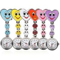 Fashion Nurses Watch Smiley Face Stainless Steel Fun Fob Pocket Watches Nurse