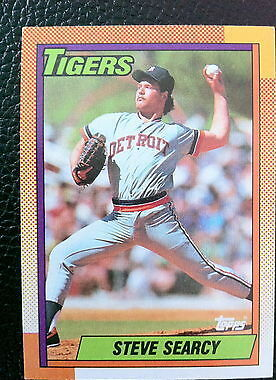 Steve Searcy Tigers 1990 Topps #487
