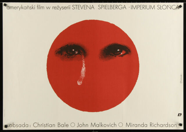 "EMPIRE OF THE SUN 1989 unfolded Polish 27""x38"" Steven Spielberg Christian Bale"