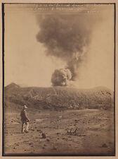 Photo ancienne albumine Java Indonésie Volcan Bromo O Kurkdjian Photographe rare