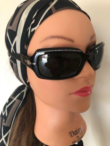 Persol black rhinestone women sunglasses EUC