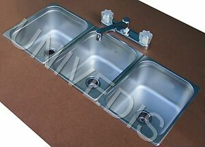 CONCESSION-Sink-STAND-Trailer-three-3-COMPARTMENT-NEW