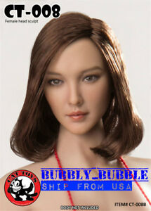 "1//6 Female Head sculpt CT008C For 12/"" Phicen Hot Toys Figure ☆SHIP FROM USA☆"