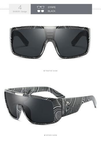 DUBERY Mens Womens Riding Sunglasses Siamese Goggles UV Protection Fishing UV400