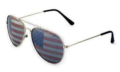 American USA Flag Aviator Sunglasses US Patriotic United States Stars Stripes