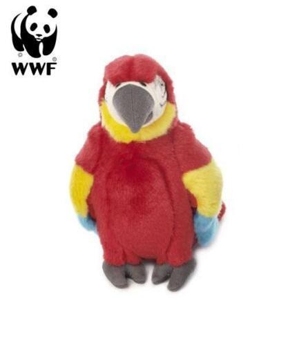 WWF Plüschtier Hellroter Ara Papagei (18cm) lebensecht Kuscheltier Stofftier NEU