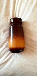 Vintage West German Scheurich dos tonos de marrón beige Florero de lava Grasa 242-22