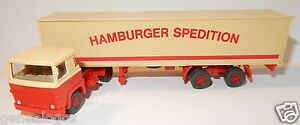 WIKING-HO-1-87-CAMION-SCANIA-SEMI-REMORQUE-HAMBURGER-SPEDITION