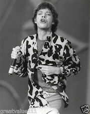 THE ROLLING STONES MICK JAGGER PHOTO 1982 HUGE VINTAGE UNIQUE IMAGE VALUABLE GEM