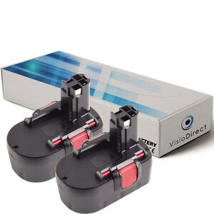 Lot-de-X2-batteries-14-4V-3000mAh-pour-BOSCH-3660CK-Societe-Francaise