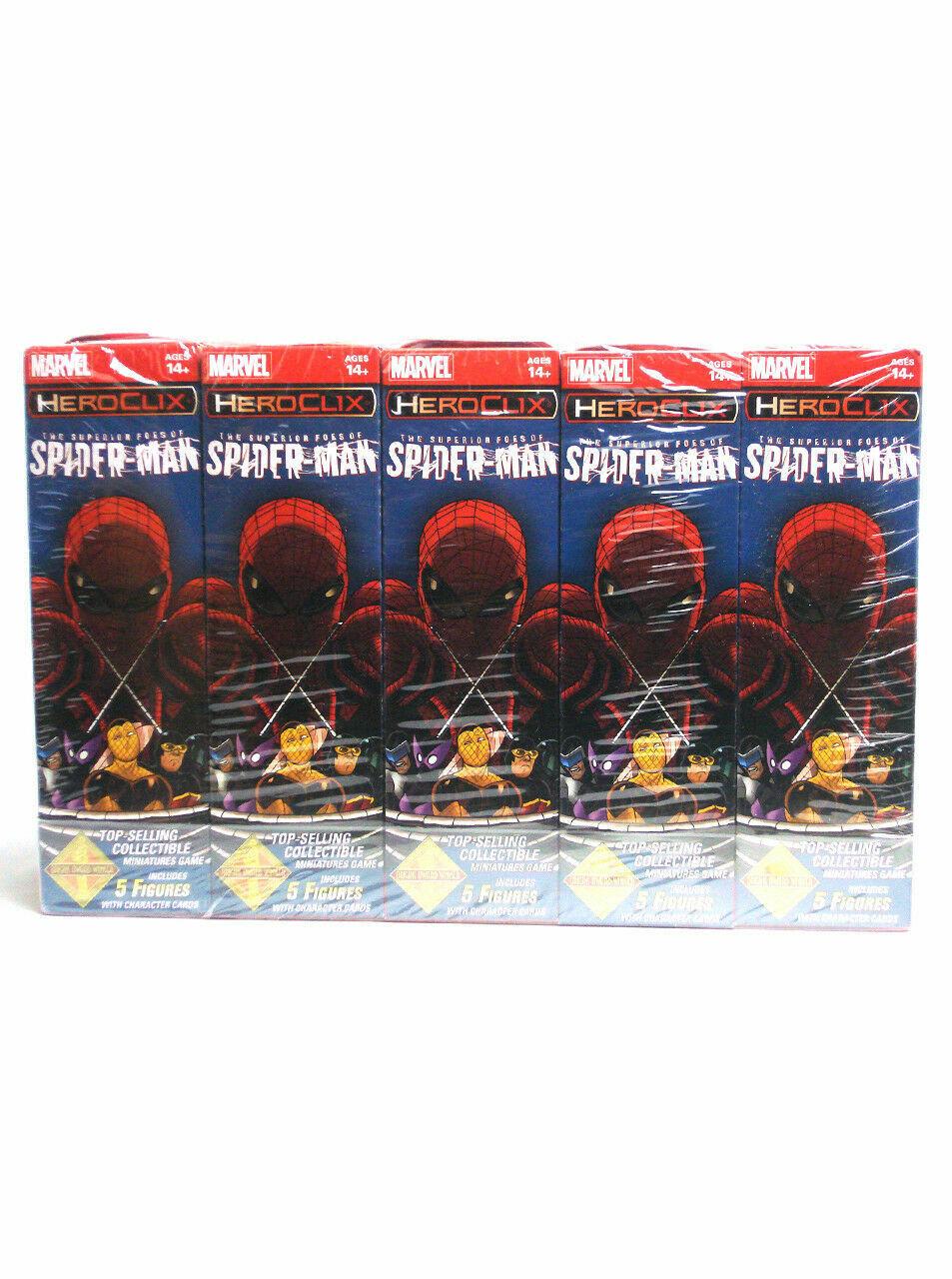 Marvel Heroclix superior enemigos del Hombre Araña ladrillo 10 intensificadores Totalmente Nuevo Sellado