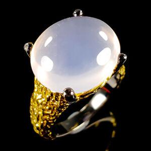 Vintage-Art-Natural-Rose-Quartz-925-Sterling-Silver-Ring-Size-5-5-R116756