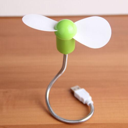 2018 Mini Flexible USB Quiet Cooling Fan Cooler For Laptop Desktop PC Computer