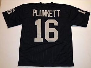 Details about UNSIGNED CUSTOM Sewn Stitched Jim Plunkett Black Jersey - M, L, XL, 2XL, 3XL