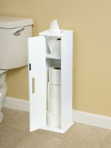 Delicieux ... White Wood Free Standing Toilet Paper Roll Holder