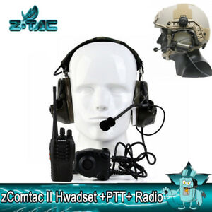 Details about Z-Tactical zComtac II Headphone Hunting Anti Noise Headset  PTT Radio Set Sale