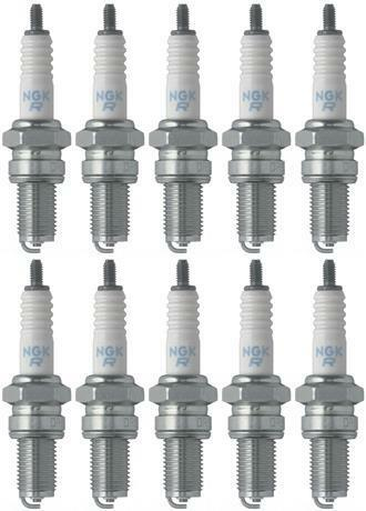 Set of 10 NGK Standard Spark Plugs for Suzuki Tu250x 2009 Engine 250cc