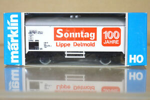 Marklin-Marklin-4415-k8081-DB-SONNTAG-lippe-DETMOLD-100-JAHRE-Kuhlwagen-NC