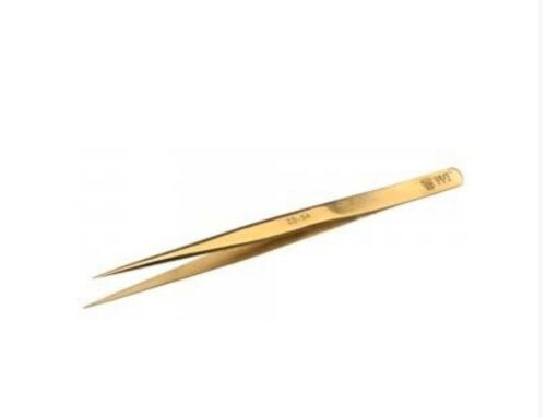 BEST-SS-SA 202 Stainless Steel High Rigidity Gold plating Tweezers  Electronics
