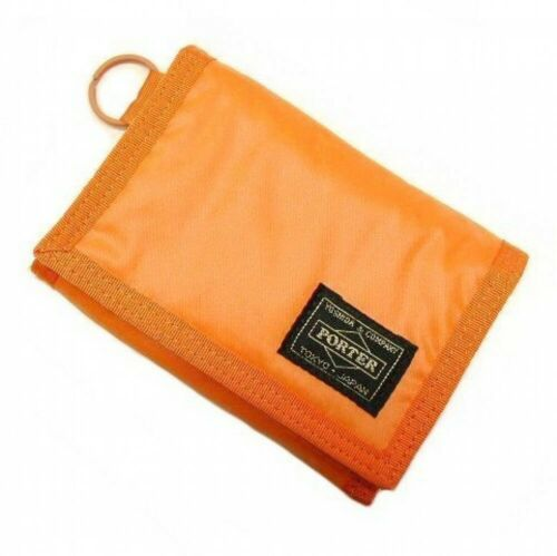 PORTER Yoshida Bag 555-06439 Tri Fold Wallet CAPSULE Orange made in Japan