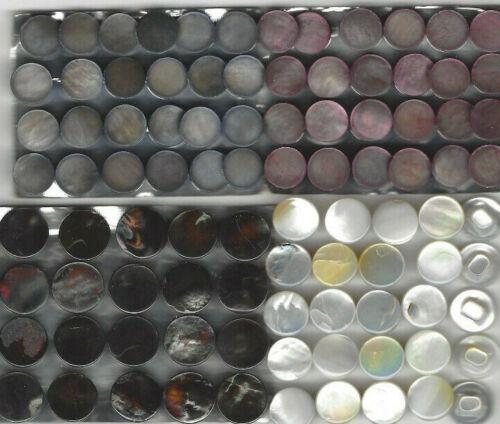 Farben 400 Perlmutt-Knöpfe m.Öse// 11-14mm// Neu// Fabrikauflösung// klass