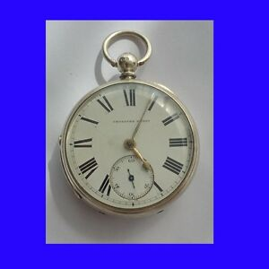 Stunning-Silver-Alan-Wells-of-Cardigan-Welsh-Fusee-Pocket-Watch-1872