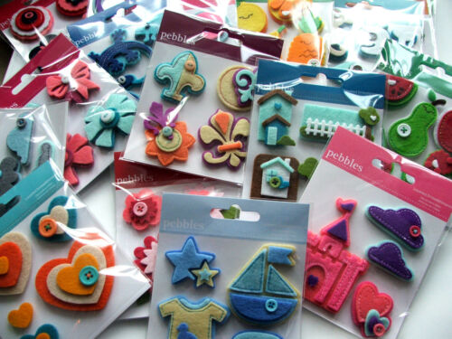 sewing etc pt2! American Crafts /'pebbles/' layered felt embellishments for cards