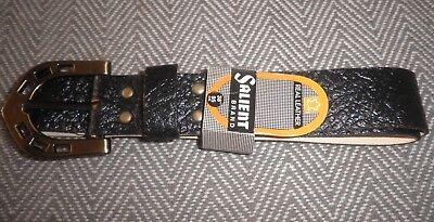 """Brand Salienti Vintage Cintura Uomo Vera Pelle Misura 38"""" (95cm) Nuovo Con Etichette-mostra Il Titolo Originale Novel (In) Design;"""