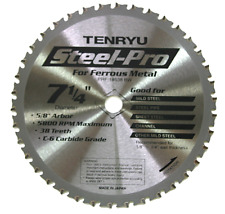 "Tenryu Steel Pro Saw Blade 7 1/4"" In PRF-18548BW Cutting Carbide Tipped Metal"