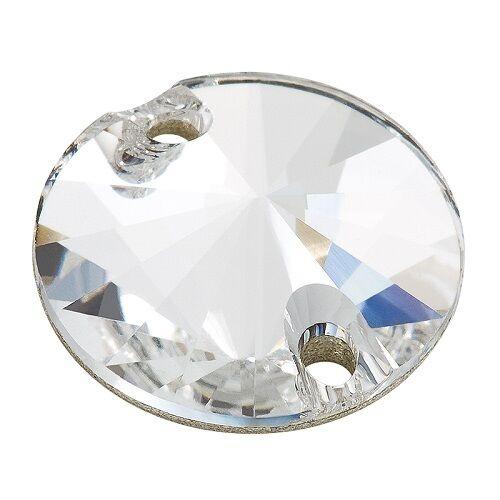 72 Pietre In Cristallo Tonde Da Cucire A 2 Fori - Mm16 Crystal