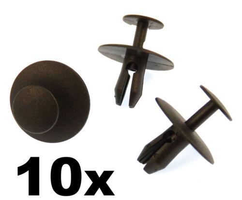 10x Peugeot Plástico Remache Clips-Recortar Clips Sujetadores Para Sombrero parachoques Rejilla