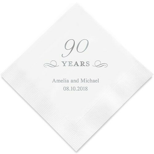 300 Personalized 90th Birthday Luncheon Napkins