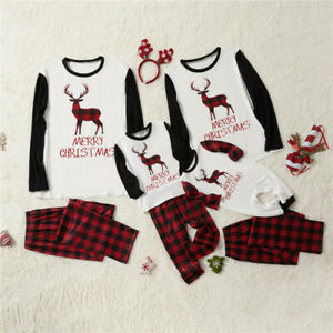 Matching Family Christmas Outfits Australia.Details About Family Matching Adult Kids Christmas Pyjamas Xmas Sleepwear Nightwear Pjs Sets