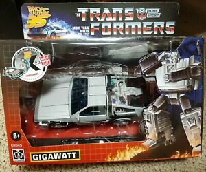 Transformers Gigawatt Back to the Future Mash-Up 35th Anniversary damaged Box
