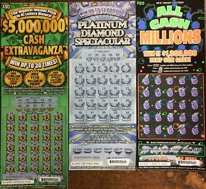 Details about $5,000 NJ LOTTERY SCRATCH OFF TICKETS NON-WINNING NEW JERSEY