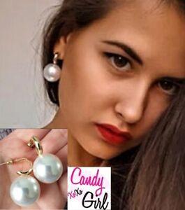 Oversized Pearl Drop Gold Fashion Earrings