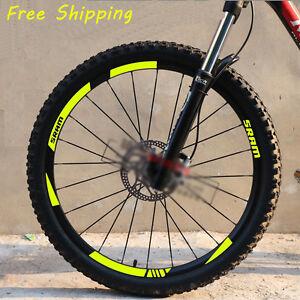 SRAM S80 Wheelset Rim Road Bicycle Decals Sticker Adhesive 2 Set 12 Pcs Yellow