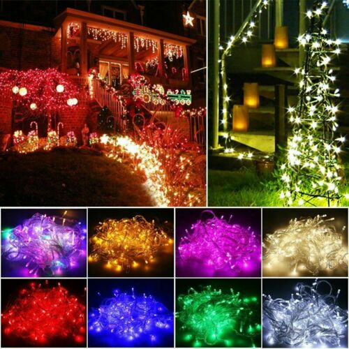 NEW 20//50//100 LEDs Battery Operated Mini LED Copper Wire String Fairy Lights 10M