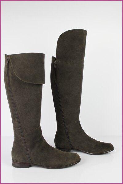 Stiefel hohe Knie ANDRE braunes Wildleder t 38 seht guter Zustand