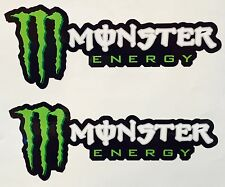 "2X Monster Energy Sticker Decal Sponsor 9.5"" AUTO MOTOR SPORTS SUPERCROSS MX JDM"