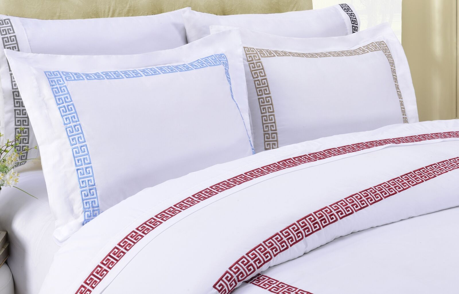 Decorative Kendell Embroiderot Cotton Sheet Set