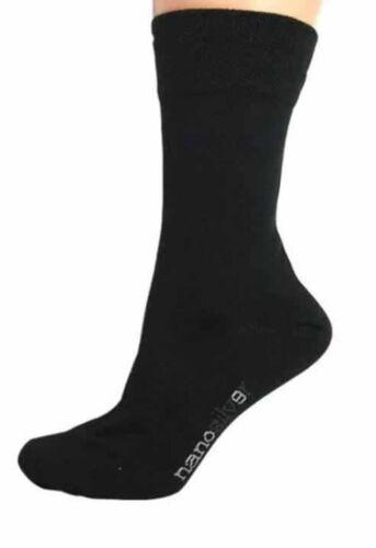 Fine Merino Wool Black UK11 UK12 UK13 UK14 Nanosox Antibacterial Sports Socks